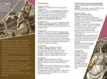 Programma celebrazioni San Martino e Santa Comasia